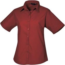 vaatteet Naiset Paitapusero / Kauluspaita Premier PR302 Burgundy
