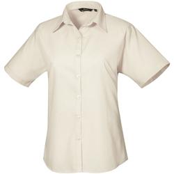 vaatteet Naiset Paitapusero / Kauluspaita Premier PR302 Natural