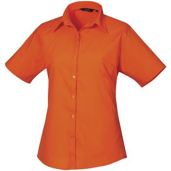 vaatteet Naiset Paitapusero / Kauluspaita Premier PR302 Orange