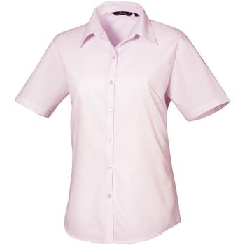 vaatteet Naiset Paitapusero / Kauluspaita Premier PR302 Pink