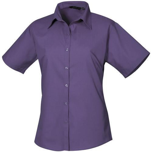 vaatteet Naiset Paitapusero / Kauluspaita Premier PR302 Purple
