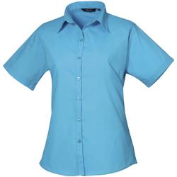 vaatteet Naiset Paitapusero / Kauluspaita Premier PR302 Turquoise