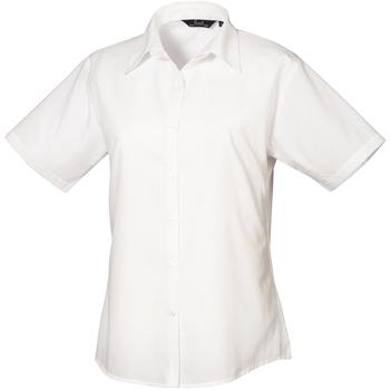 vaatteet Naiset Paitapusero / Kauluspaita Premier PR302 White