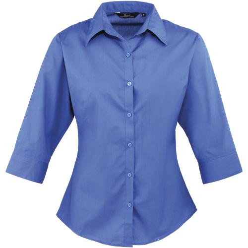 vaatteet Naiset Paitapusero / Kauluspaita Premier Poplin Royal