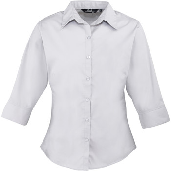 vaatteet Naiset Paitapusero / Kauluspaita Premier Poplin Silver