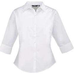 vaatteet Naiset Paitapusero / Kauluspaita Premier Poplin White