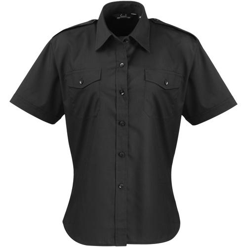 vaatteet Naiset Paitapusero / Kauluspaita Premier PR312 Black