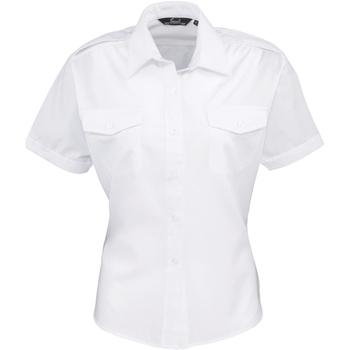 vaatteet Naiset Paitapusero / Kauluspaita Premier PR312 White