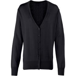 vaatteet Naiset Neuleet / Villatakit Premier Button Through Black