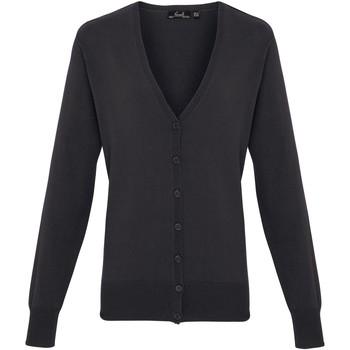 vaatteet Naiset Neuleet / Villatakit Premier Button Through Charcoal