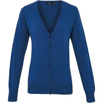 vaatteet Naiset Neuleet / Villatakit Premier Button Through Royal