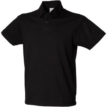 vaatteet Miehet Lyhythihainen poolopaita Skinni Fit SFM42 Black