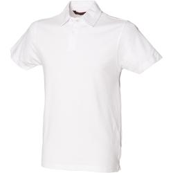 vaatteet Miehet Lyhythihainen poolopaita Skinni Fit SFM42 White