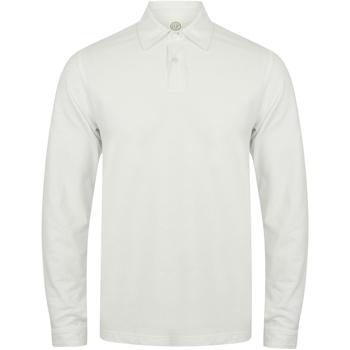 vaatteet Miehet Pitkähihainen poolopaita Skinni Fit SFM44 White
