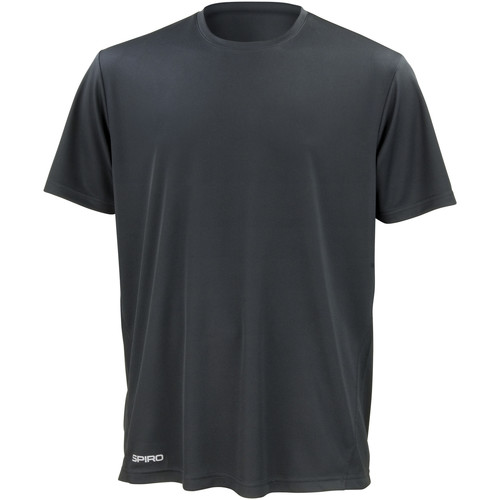 vaatteet Miehet Lyhythihainen t-paita Spiro S253M Black