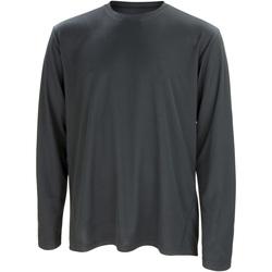 vaatteet Miehet T-paidat pitkillä hihoilla Spiro S254M Black