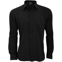 vaatteet Miehet Pitkähihainen paitapusero Henbury HB590 Black
