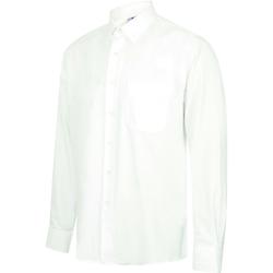 vaatteet Miehet Pitkähihainen paitapusero Henbury HB590 White