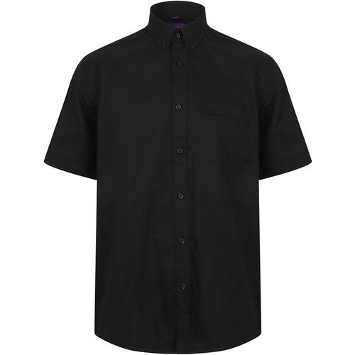 vaatteet Miehet Lyhythihainen paitapusero Henbury HB595 Black