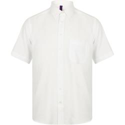 vaatteet Miehet Lyhythihainen paitapusero Henbury HB595 White