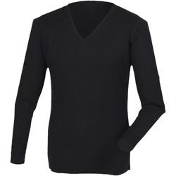 vaatteet Miehet T-paidat pitkillä hihoilla Henbury HB760 Black