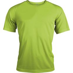 vaatteet Miehet Lyhythihainen t-paita Kariban Proact PA438 Lime