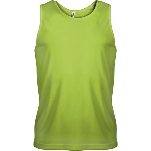 vaatteet Miehet Hihattomat paidat / Hihattomat t-paidat Kariban Proact PA441 Lime