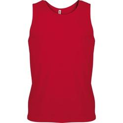 vaatteet Miehet Hihattomat paidat / Hihattomat t-paidat Kariban Proact PA441 Red