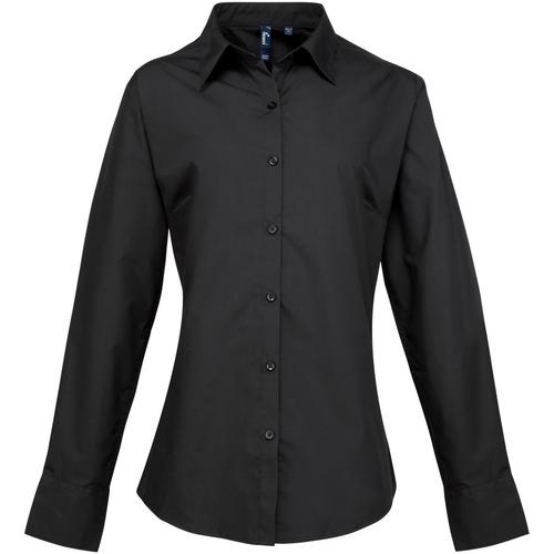 vaatteet Naiset Paitapusero / Kauluspaita Premier PR307 Black