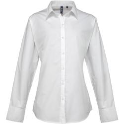 vaatteet Naiset Paitapusero / Kauluspaita Premier PR307 White