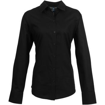 vaatteet Naiset Paitapusero / Kauluspaita Premier PR334 Black