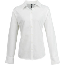 vaatteet Naiset Paitapusero / Kauluspaita Premier PR334 White