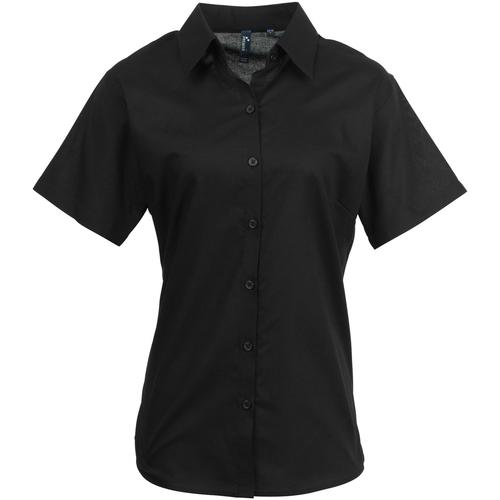 vaatteet Naiset Paitapusero / Kauluspaita Premier PR336 Black