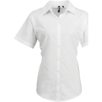 vaatteet Naiset Paitapusero / Kauluspaita Premier PR336 White