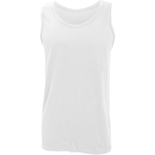 vaatteet Miehet Hihattomat paidat / Hihattomat t-paidat Gildan 64200 White