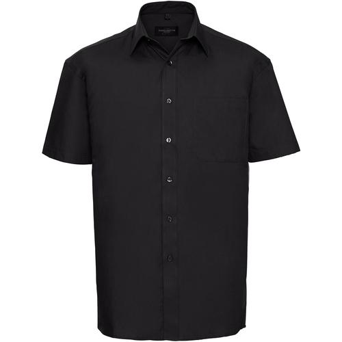 vaatteet Miehet Lyhythihainen paitapusero Russell J937M Black