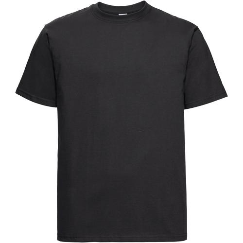 vaatteet Miehet Lyhythihainen t-paita Russell 215M Black