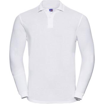 vaatteet Miehet Pitkähihainen poolopaita Russell 569M White