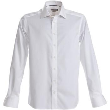 vaatteet Miehet Pitkähihainen paitapusero J Harvest & Frost JF001 White
