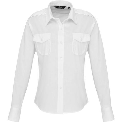 vaatteet Naiset Paitapusero / Kauluspaita Premier PR310 White