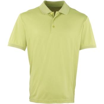 vaatteet Miehet Lyhythihainen poolopaita Premier PR615 Lime