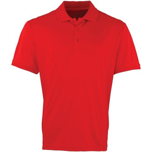 vaatteet Miehet Lyhythihainen poolopaita Premier PR615 Red
