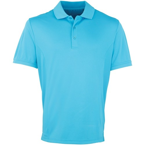 vaatteet Miehet Lyhythihainen poolopaita Premier PR615 Turquoise
