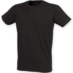 vaatteet Miehet Lyhythihainen t-paita Skinni Fit SF121 Black