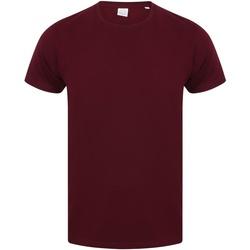 vaatteet Miehet Lyhythihainen t-paita Skinni Fit SF121 Burgundy