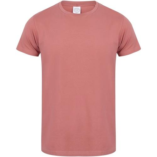 vaatteet Miehet Lyhythihainen t-paita Skinni Fit SF121 Clay