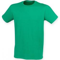 vaatteet Miehet Lyhythihainen t-paita Skinni Fit SF121 Green