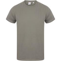 vaatteet Miehet Lyhythihainen t-paita Skinni Fit SF121 Khaki