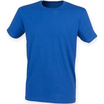 vaatteet Miehet Lyhythihainen t-paita Skinni Fit SF121 Royal