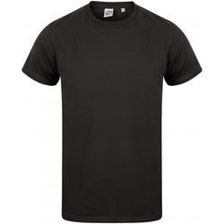 vaatteet Miehet Lyhythihainen t-paita Skinni Fit SF122 Black